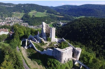 Wanderung: Läufelfingen - Ruine Homburg - Ramsach - Wasserfall Grindel - Sommerau