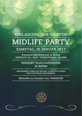 Einladung zur 4ten Midlifeparty